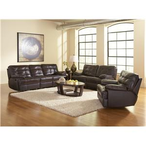 Dalton Reclining Living Room Group by Leather Italia USA