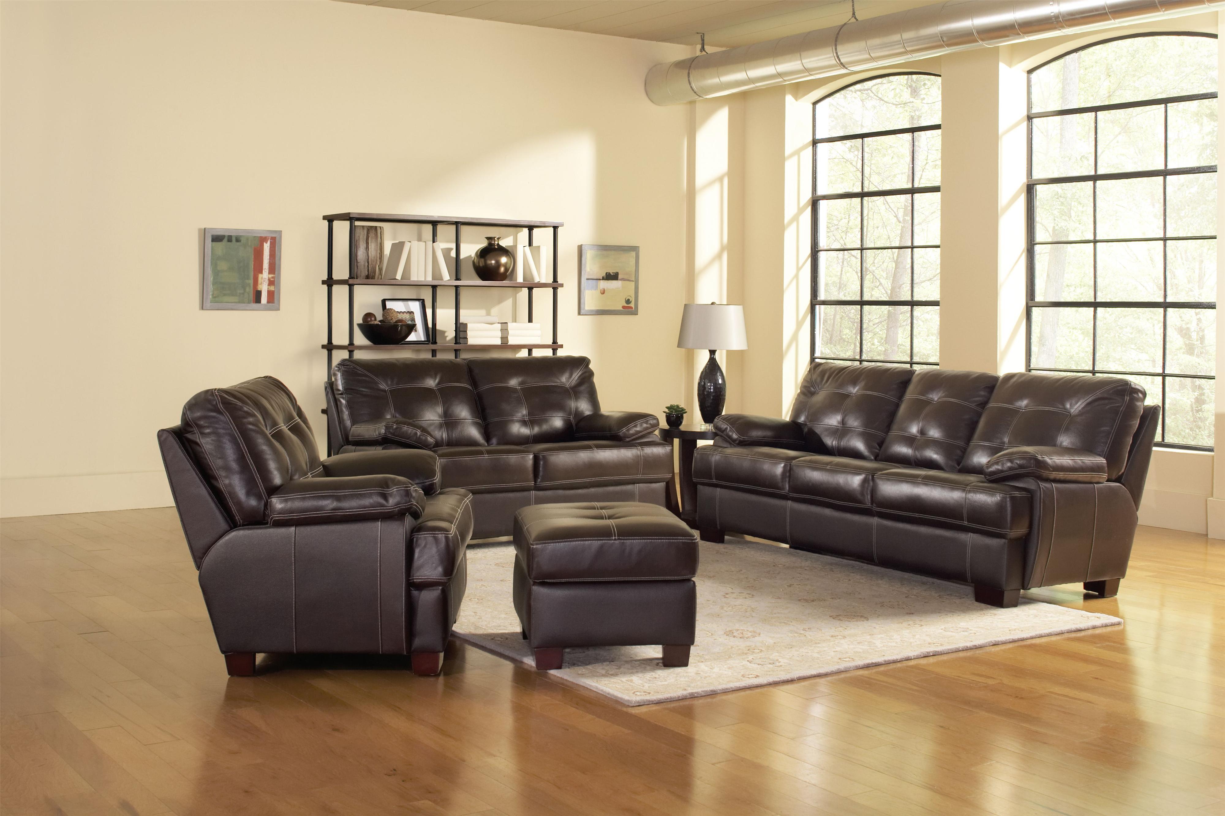 Leather Italia USA Dalton Stationary Living Room Group