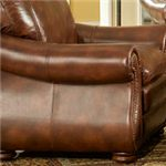 Premium Top-Grain Leather in Pecan