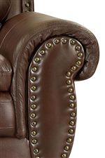 Wide Rolled Arms with Nailhead Trim