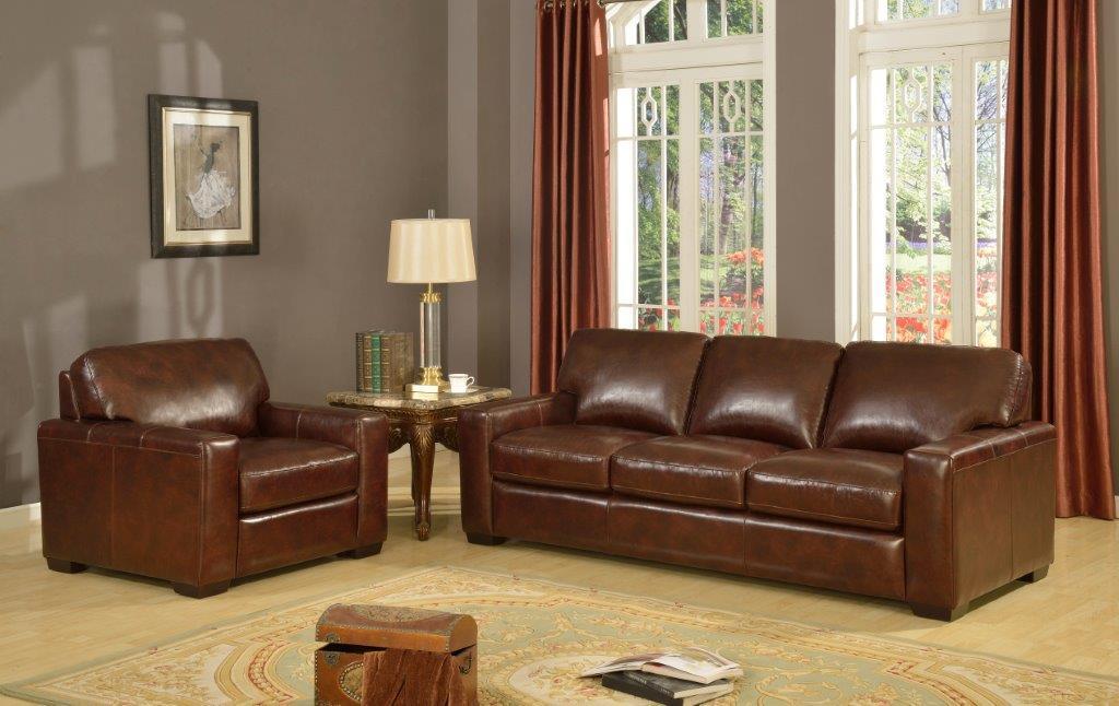 Leather Italia USA Woodburn Stationary Living Room Group - Item Number: 2218 Living Room Group 1