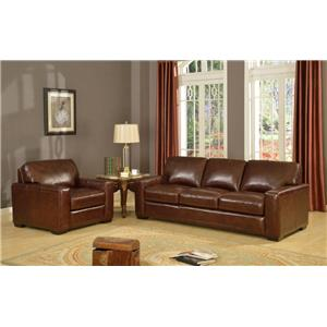 Leather Italia USA Woodburn Stationary Living Room Group