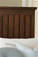 Slatted Headboard Offers Old Country Western Style