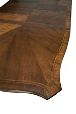 Parqueted Dining Table Top with Extension Leaves