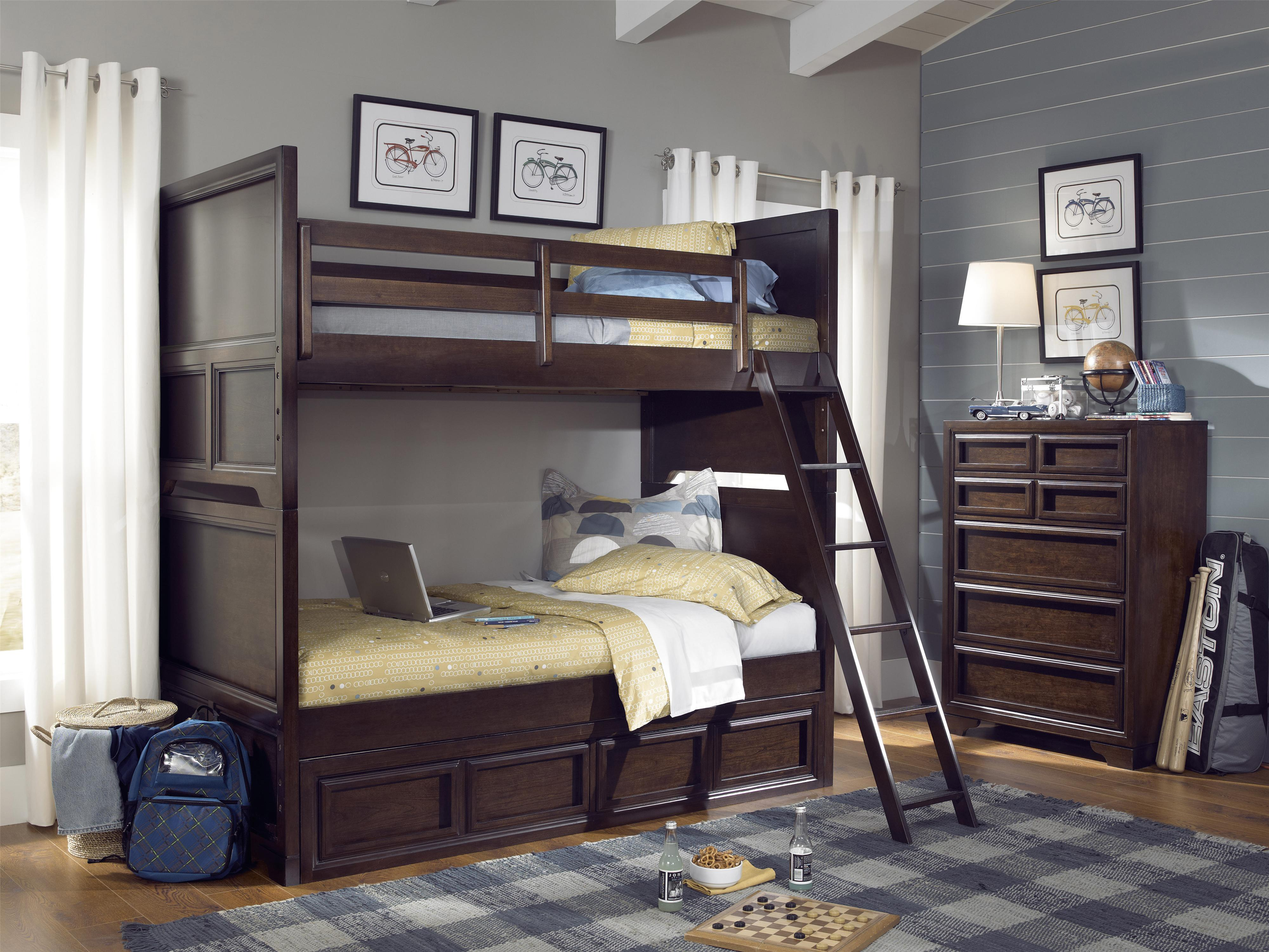 Legacy Classic Kids Benchmark Twin Over Twin Bunk Bedroom Group - Item Number: 2970 T Bedroom Group 3
