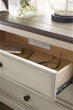 Built-in Outlets and USB Ports Support Modern Technology