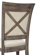 Exposed Wood Cross Bars on Picture Frame Style Chair Backs