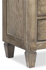 Cases Feature Softly Recessed Paneling and Tapered Block Feet