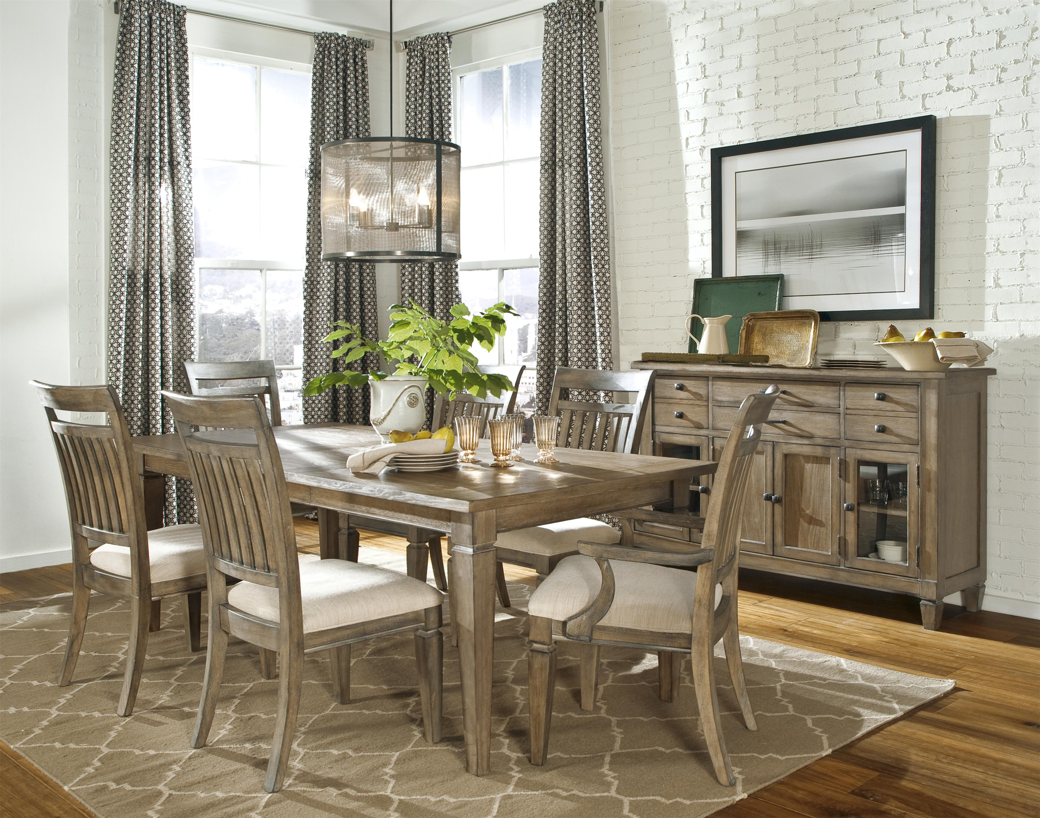 Furniture Village Dining Sets legacy classic brownstone village 7-piece dining set with leg