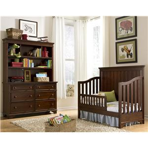 Legacy Classic Kids Dawson's Ridge Dresser with 6 Drawers and Framed Mirror