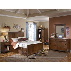 Legacy Classic Kids Dawson's Ridge Full Size Panel Bed with 4-Drawer Underbed Storage Unit