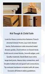 Quality Construction to Be Kid Tough & Child Safe
