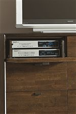 Flip-Front Drawers Provide Perfect Media Component Storage