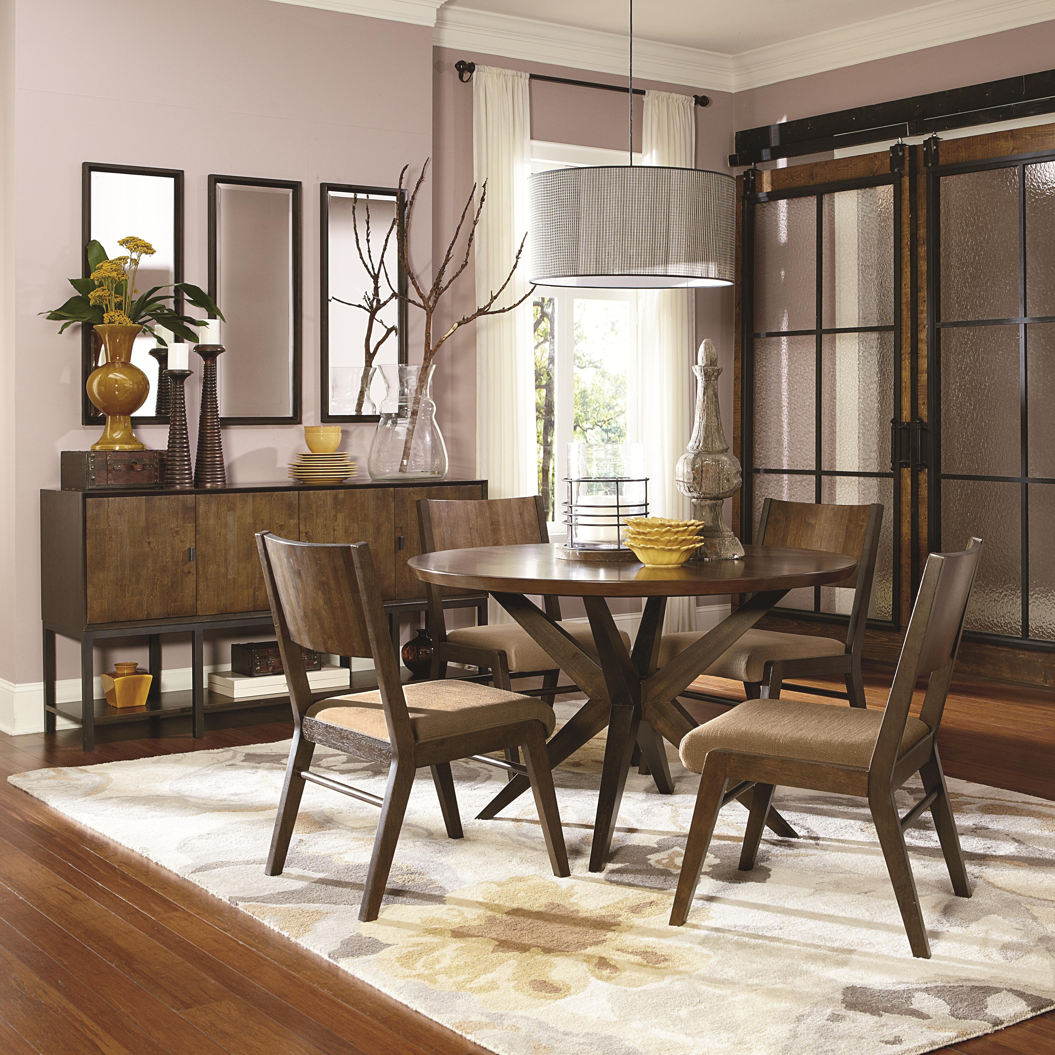 Legacy Dining Room Furniture Legacy Classic Kateri Round Table With Pedestal Bottom In Hazelnut