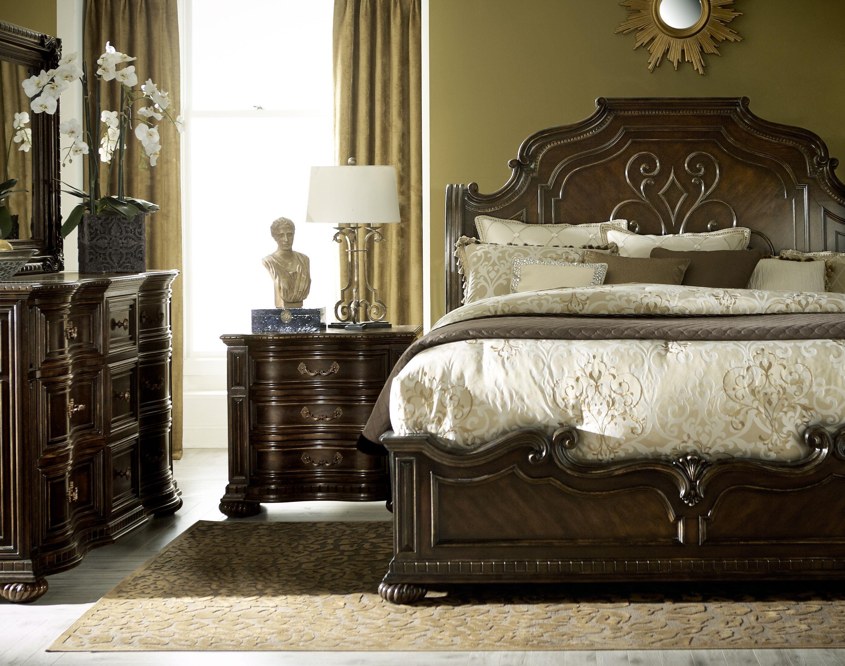 Legacy Classic La Bella Vita King Bedroom Group - Item Number: 4200 K Bedroom Group 1
