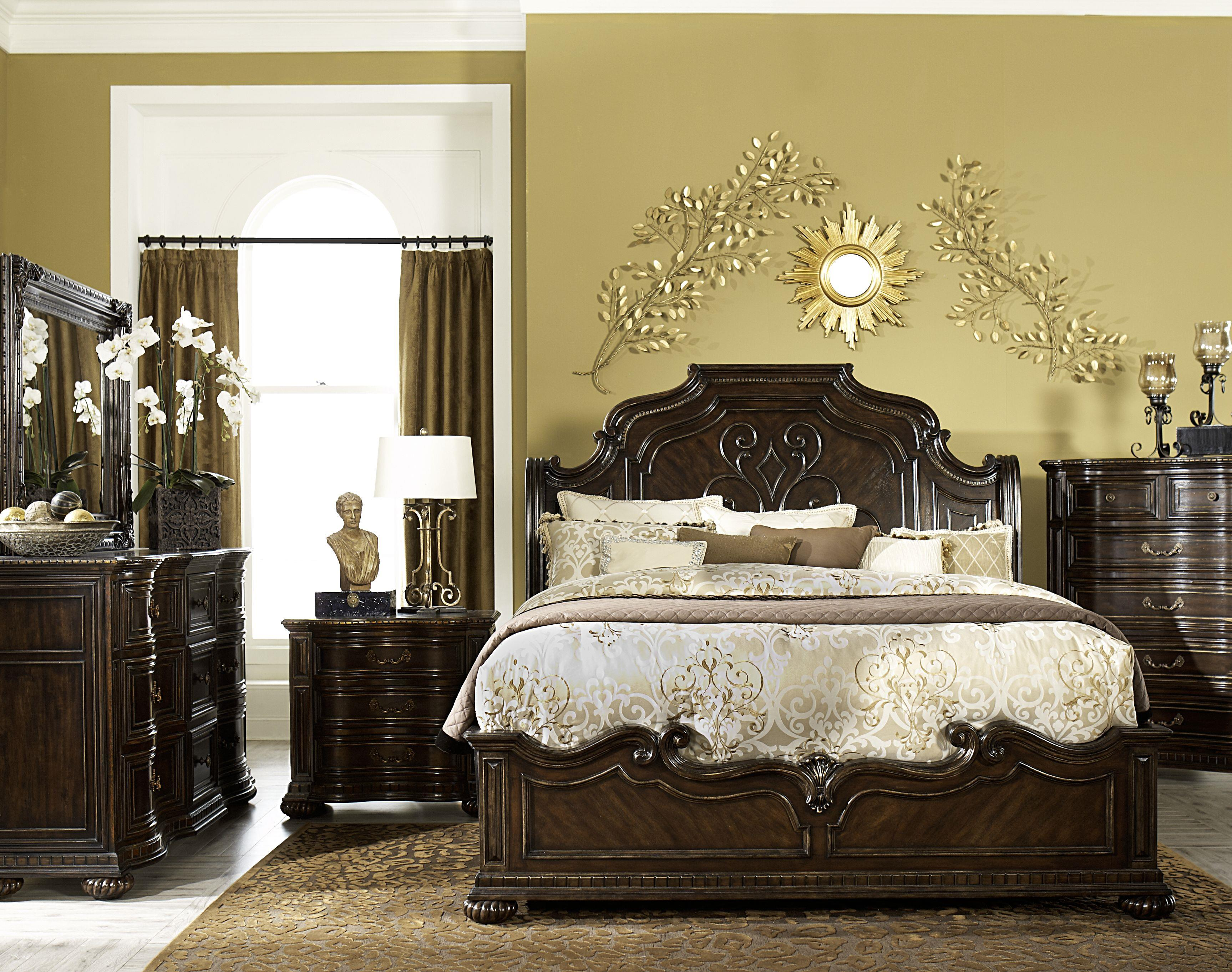 Legacy Classic La Bella Vita King Bedroom Group - Item Number: 4200 K Bedroom Group 3