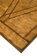 Geometric Veneer Pattern With Cherry Veneer Crossings On A Background Of Birch Veneer Table Top