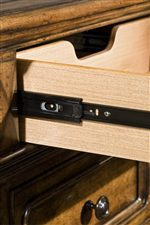 Drawer Guide Rails with Built-In Roller Wheel for Smooth Operation
