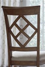 Chairs Feature Elegant Diamond Backs