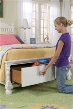 Spacious Storage Drawers Available in Footboard