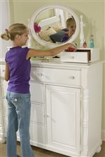 Vanity/Bureau Mirror Used with Bureau For Accessories