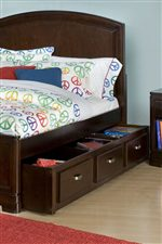 Underbed Storage Maximizes Limited Bedroom Space