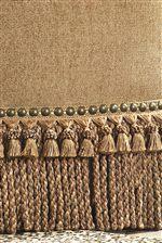 Fringe Sofa Skirt and Nailhead Trim