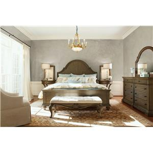 Legacy Classic Renaissance Cal King Upholstered Panel Bed with Button Tufting