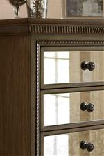 Antique Mirrored Faces Featured Throughout Collection