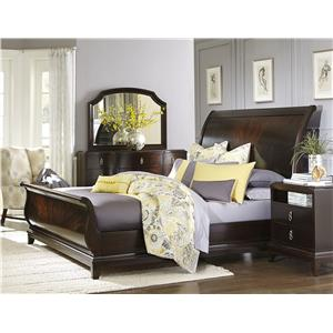 Legacy Classic Sophia King Sleigh Bed in Rich Cabernet Finish