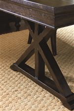 X-Shaped Pedestal on Trestle and Pub Table