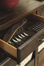 Select Dining Items Feature a Silver Tray to Help Protect and Organize your Serving Items