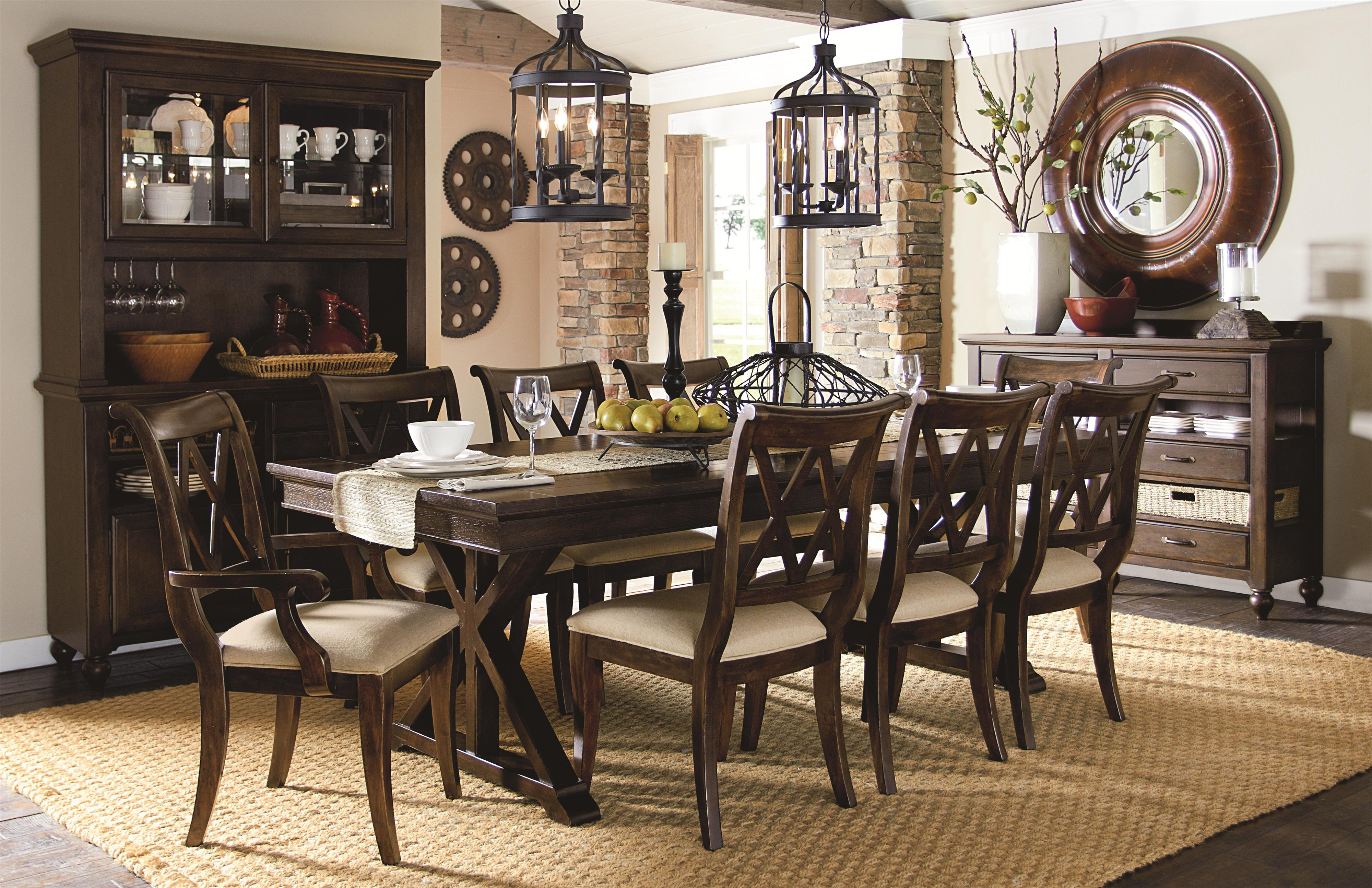 Legacy Classic Thatcher 9 Piece Pub Dining Set with X-Shaped ...