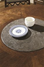 Stone Lazy Susan on Round Table