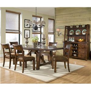 Legacy Classic Woodland Ridge Dining Credenza & Hutch with Storage