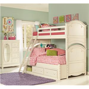 Legacy Classic Kids Charlotte 7 Drawer Dresser and Arched Mirror Set