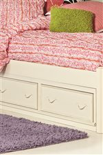 Under Bed Storage Options Include Drawers or Trundle Unit