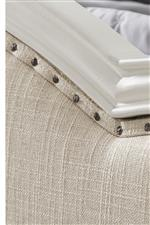 Nailhead Trim and Tea Linen Woven Fabric