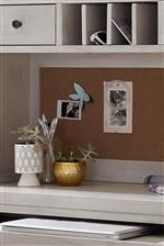Cork Board on Back of Hutch Perfect for Displaying Pictures