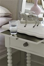 Boutique Night Stand Features a Pull-Out Tray