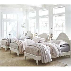 Legacy Classic Kids Inspirations by Wendy Bellissimo Twin Westport Low Poster Bed with Arched Panel Headboard and Footboard