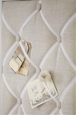 Tufted French Memo Board with Grosgrain Ribbon Featured on the Boutique Desk Hutch
