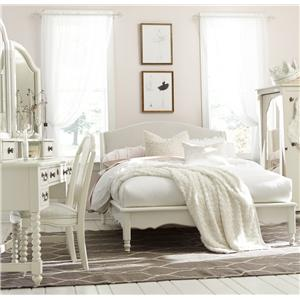Legacy Classic Kids Inspirations by Wendy Bellissimo Full Avalon Platform Bed with Upholstered Headboard and Scalloped Apron