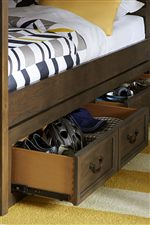 Each Bed Accommodates Underbed Storage Options or a Trundle