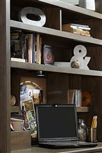 Desk Hutch Offers Fun and Practical Features like a Light, Corkboard, and Outlet
