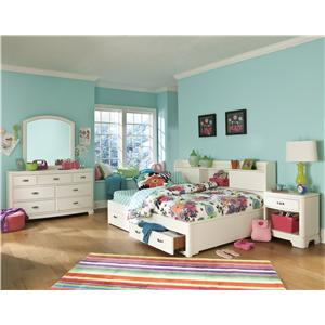 Legacy Classic Kids Park City White Full Bedroom Group