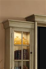 Crown Molding Atop the Bookcase Piers and Hutch