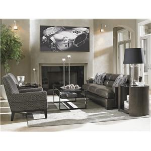 Lexington Carrera Toscana Leather Sofa with Bustle Back Cushions