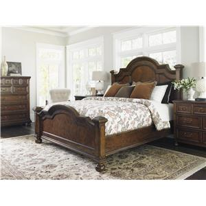 Lexington Coventry Hills Queen Roxbury Panel Bed with Quartered Cherry Veneers