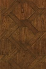 Table Tops Feature Fancy Face Veneers - Smaller Pieces of Wood with a Desirable Wood Grain Pieced to Make a Pattern